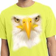 Mens Shirt Big Bald Eagle Face Pigment Dyed Tee T-Shirt