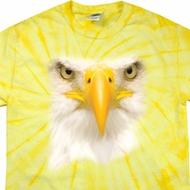 Mens Shirt Big Bald Eagle Face Spider Tie Dye Tee T-shirt