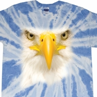 Mens Shirt Big Bald Eagle Face Twist Tie Dye Tee T-shirt