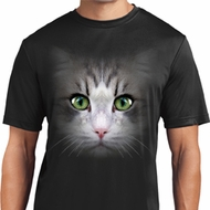 Mens Shirt Big Cat Face Moisture Wicking Tee T-Shirt