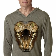 Mens Shirt Big Cobra Snake Face Lightweight Hoodie Tee T-Shirt