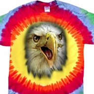 Mens Shirt Big Eagle Face Premium Tie Dye Tee T-shirt