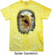 Mens Shirt Big Eagle Face Spider Tie Dye Tee T-shirt
