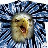 Mens Shirt Big Eagle Face Twist Tie Dye Tee T-shirt
