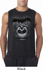 Mens Shirt Big Gorilla Face Sleeveless Tee T-Shirt