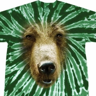 Mens Shirt Big Grizzly Bear Face Twist Tie Dye Tee T-shirt