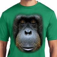 Mens Shirt Big Orangutan Face Moisture Wicking Tee T-Shirt