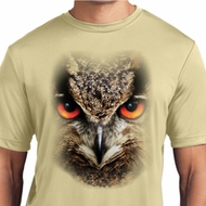 Mens Shirt Big Owl Face Moisture Wicking Tee T-Shirt