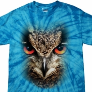 Mens Shirt Big Owl Face Spider Tie Dye Tee T-shirt