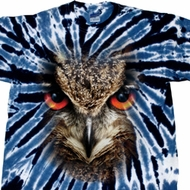 Mens Shirt Big Owl Face Twist Tie Dye Tee T-shirt