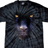 Mens Shirt Big Panther Face Spider Tie Dye Tee T-shirt