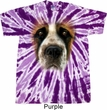 Mens Shirt Big St Bernard Face Twist Tie Dye Tee T-shirt