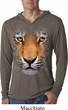 Mens Shirt Big Tiger Face Lightweight Hoodie Tee T-Shirt