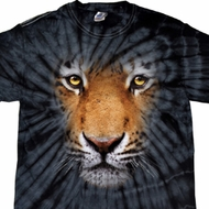 Mens Shirt Big Tiger Face Spider Tie Dye Tee T-shirt