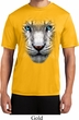 Mens Shirt Big White Tiger Face Moisture Wicking Tee T-Shirt