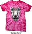 Mens Shirt Big White Tiger Face Spider Tie Dye Tee T-shirt