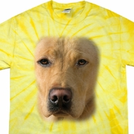 Mens Shirt Big Yellow Lab Face Spider Tie Dye Tee T-shirt