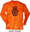Mens Shirt Black Hamsa Long Sleeve Tie Dye Tee T-shirt