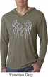 Mens Shirt Cross Wings Lightweight Hoodie Tee T-Shirt