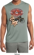 Mens Shirt Full Service Gas Sleeveless Moisture Wicking Tee T-Shirt