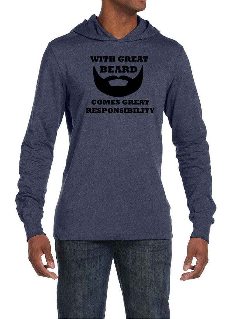 Mens shirt great beard great responsibility lightweight for Great shirts for guys