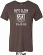 Mens Shirt Guts and Glory Ram Logo Tri Blend Crewneck Tee T-Shirt