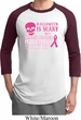 Mens Shirt Halloween Scary Breast Cancer Deadly Raglan Tee T-Shirt