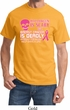 Mens Shirt Halloween Scary Breast Cancer Deadly Tee T-Shirt