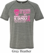 Mens Shirt Halloween Scary Breast Cancer Deadly Tri Blend Tee T-Shirt