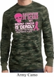 Mens Shirt Halloween Scary Cancer Deadly Long Sleeve Thermal Tee