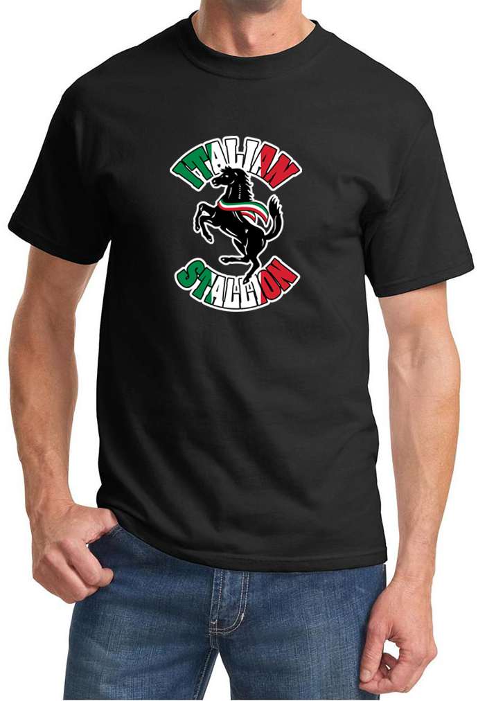 mens shirt italian stallion tee t shirt italian stallion mens shirts. Black Bedroom Furniture Sets. Home Design Ideas