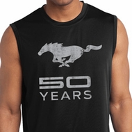 Mens Shirt Mustang 50 Years Sleeveless Moisture Wicking Tee T-Shirt