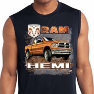 Mens Shirt Ram Hemi Trucks Sleeveless Moisture Wicking Tee T-Shirt