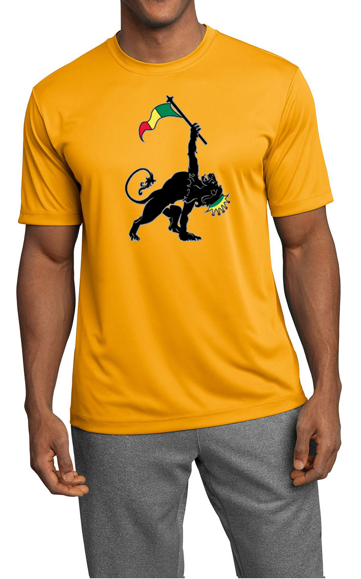 Mens shirt rasta triangle moisture wicking tee t shirt for Sweat wicking t shirts