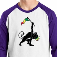 Mens Shirt Rasta Triangle Raglan Tee T-Shirt