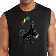 Mens Shirt Rasta Triangle Sleeveless Moisture Wicking Tee T-Shirt