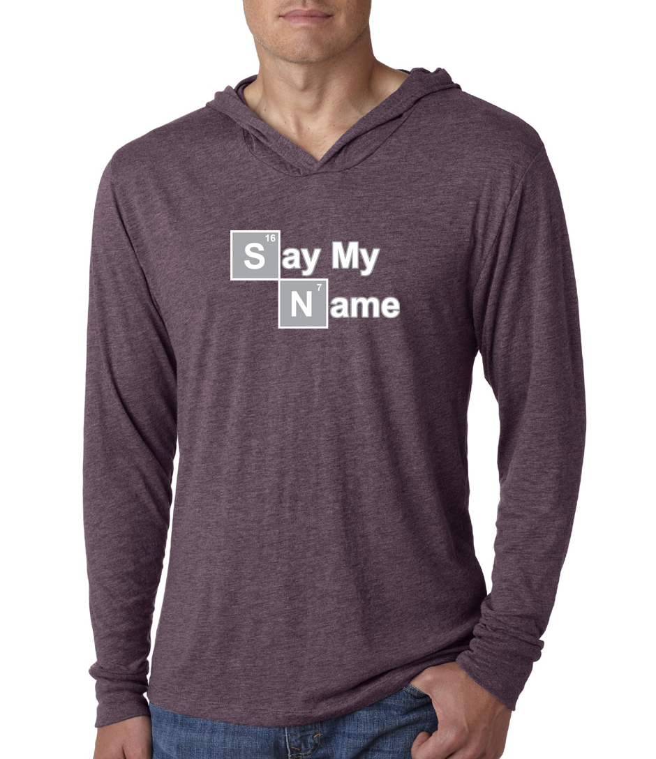 mens shirt say my name lightweight hoodie tee say my name mens shirts. Black Bedroom Furniture Sets. Home Design Ideas
