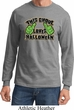 Mens Shirt This Ghoul Loves Halloween Long Sleeve Tee T-Shirt