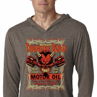 Mens Shirt Thunder Road Lightweight Hoodie Tee T-Shirt