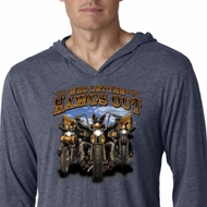 Mens Shirt Who Let The Hawgs Out Lightweight Hoodie Tee T-Shirt
