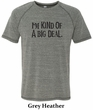 Mens Shirts Kind of a Big Deal Black Print Tri Blend Tee T-Shirt