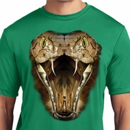 Mens Snake Shirt Big Cobra Snake Face Moisture Wicking Tee T-Shirt