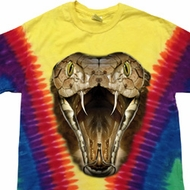 Mens Snake Shirt Big Cobra Snake Face Premium Tie Dye Tee T-shirt