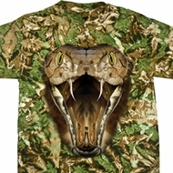 Mens Snake Shirt Big Cobra Snake Face Tie Dye T-shirt