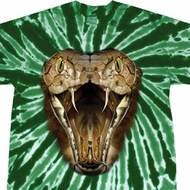 Mens Snake Shirt Big Cobra Snake Face Twist Tie Dye Tee T-shirt