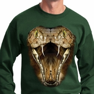 Mens Snake Sweatshirt Big Cobra Snake Face Sweat Shirt