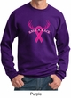 Mens Sweatshirt Breast Cancer Awareness Save a Rack Sweat Shirt