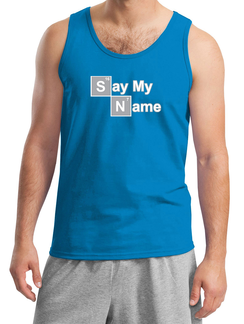 mens tanktop say my name tank top say my name mens shirts. Black Bedroom Furniture Sets. Home Design Ideas