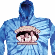 Mens Three Stooges Hoodie Attorneys at Law Baby Blue Tie Dye Hoody