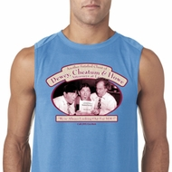 Mens Three Stooges Shirt Attorneys at Law Sleeveless Tee T-Shirt